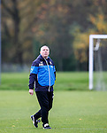 Ally McCoist walks out for training this morning