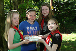 Chloe Whelan, Aine O'Neill, Ellie Kevitt Murphy and Anna Brennan at the Girl Guides Cook Out Competition at Townley Hall...Photo NEWSFILE/Jenny Matthews.(Photo credit should read Jenny Matthews/NEWSFILE)....This Picture has been sent you under the condtions enclosed by:.Newsfile Ltd..The Studio,.Millmount Abbey,.Drogheda,.Co Meath..Ireland..Tel: +353(0)41-9871240.Fax: +353(0)41-9871260.GSM: +353(0)86-2500958.email: pictures@newsfile.ie.www.newsfile.ie.FTP: 193.120.102.198.