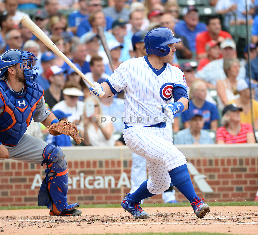 Chicago Cubs Miguel Montero (47) during a game against the New York Mets on July 20, 2016 at Wrigley Field in Chicago, IL. The Cubs beat the Mets 6-2.