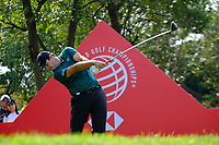 Patrick Reed (USA) on the 18th tee during the 1st round at the WGC HSBC Champions 2018, Sheshan Golf CLub, Shanghai, China. 25/10/2018.<br /> Picture Phil Inglis / Golffile.ie<br /> <br /> All photo usage must carry mandatory copyright credit (&copy; Golffile | Phil Inglis)