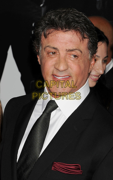 """Sylvester Stallone.""""The Expendables 2"""" Los Angeles Premiere held at Grauman's Chinese Theatre, Los Angeles, California, USA..August 15th, 2012.headshot portrait white shirt black suit .CAP/ROT/TM.©Tony Michaels/Roth Stock/Capital Pictures"""