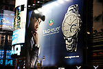 Tiger Woods Billboard Advertisment Promotion for TAG HEUER on February 10, 2008 in Times Square,<br /> New York City.