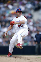 Bartolo Colon of the Dominican Republic during semi final game against Cuba during the World Baseball Championships at Petco Park in San Diego,California on March 18, 2006. Photo by Larry Goren/Four Seam Images