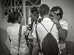 Havana, Cuba: Young couples after class