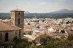 Arta from the hilltop monastery of Sant Salvador, Mallorca
