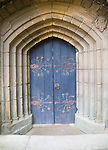 Arched doorway to the Percy family chapel, Tynemouth priory, Northumberland, England