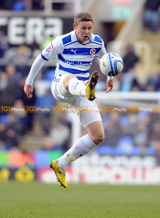 Simon Church of Reading - Reading vs Coventry City - nPower League Championship Football at the Madejski Stadium - 11/02/12 - MANDATORY CREDIT: Anne-Marie Sanderson/TGSPHOTO - Self billing applies where appropriate - 0845 094 6026 - contact@tgsphoto.co.uk - NO UNPAID USE.