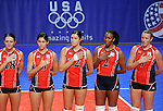 June 14, 2008 - Colorado Springs, CO...Team USA's players prior to Women's Olympic Exhibition Volleyball action between Brazil and the USA.  Brazil is currently the world's top ranked team going into the Olympics later this summer.  Team USA is currently ranked 4th...Brazil defeated Team USA 3-0 in the third of a three-match exhibition series at the U.S. Air Force Academy in Colorado Springs, Colorado...Larry Clouse/CSM....