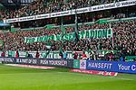 "02.11.2019, wohninvest WESERSTADION, Bremen, GER, 1.FBL, Werder Bremen vs SC Freiburg<br /> <br /> DFL REGULATIONS PROHIBIT ANY USE OF PHOTOGRAPHS AS IMAGE SEQUENCES AND/OR QUASI-VIDEO.<br /> <br /> im Bild / picture shows<br /> Banner / Spruchband ""Für immer Weserstadion!"" in der Ostkurve des Weserstadions, <br /> <br /> Foto © nordphoto / Ewert"