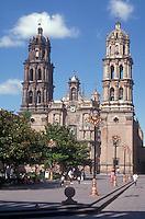 Cathedral and the Plaza de Armas in the city of San Luis Potosi San Luis Potosi, Mexico