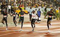Leslie Shavel(618) 10.56 winning his heat in the 100m Men JAAA Dev. at the Jamaica International Invitational Meet on Saturday, May 2nd. 2009. Photo by Errol Anderson,The Sporting Image.net