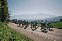 the breakaway group leading by over 17 minutes as they enter the local circuit in Innsbruck<br /> <br /> MEN ELITE ROAD RACE<br /> Kufstein to Innsbruck: 258.5 km<br /> <br /> UCI 2018 Road World Championships<br /> Innsbruck - Tirol / Austria