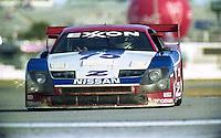 The #75 Nissan 300ZX of Johnny O'Connell, Jeremy Dale, and John Morton the 24 Hours of Daytona, Daytona International Speedway, Daytona Beach, FL, February 2, 1992.  (Photo by Brian Cleary/www.bcpix.com)
