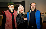 WATERBURY, CT-111917JS11- Artists Kardash Onnig of Stamford, Verne Henshall of West Cornwall and artist Murray Zimiles of Millerton, NY, at the opening reception for the exhibition, Jane Peterson &quot;At Home and Abroad&quot; at the Mattatuck Museum in Waterbury. <br /> Jim Shannon Republican-American