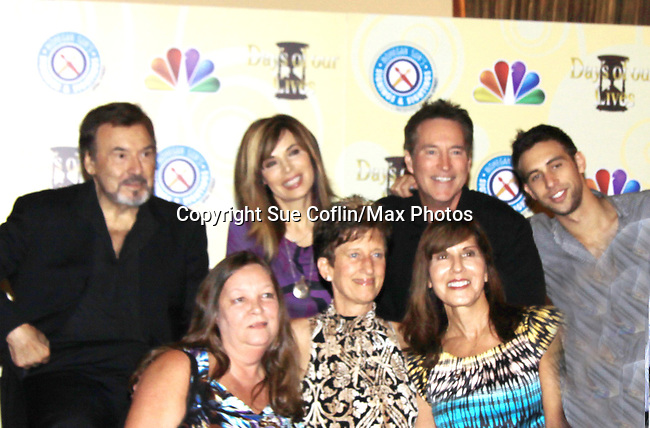 Days Of Our Lives National Tour - Joseph Mascolo, Lauren Koslow, Drake Hogestyn, Blake Berris with Mary Ann, Darlene and friend on September 23, 2012 at The Shops at Mohegan Sun, Uncasville, Connecticut. (Photo by Sue Coflin/Max Photos)
