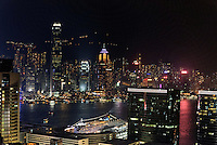 Blick von Kowloon auf Skyline von Hongkong, China<br /> View from Kowloon, Skyline of Hongkong, China