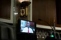 United States Senator Tim Scott (Republican of South Carolina), speaks via teleconference during a Senate Health, Education, Labor and Pensions Committee hearing in Washington, D.C., U.S., on Tuesday, June 30, 2020. Top federal health officials are expected to discuss efforts to get back to work and school during the coronavirus pandemic. <br /> Credit: Al Drago / Pool via CNP /MediaPunch