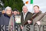 Margaret Twomey, Tim Twomey, Paddy Joe Bailey and Thady Bailey at the Headford Ambush commemoration on Sunday..