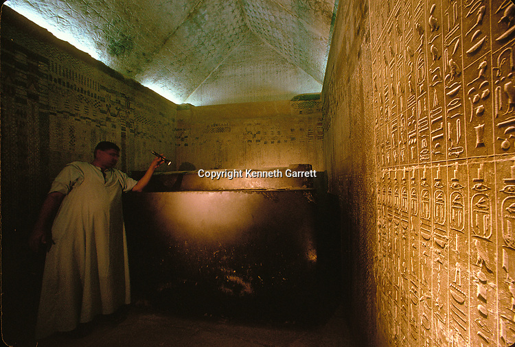 Egypt, Old Kingdom, Pyramid of Unas, tomb chamber, Saqqara