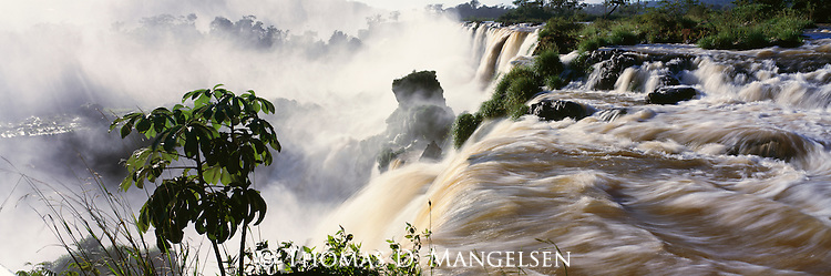 Water rushes over Iguazú Falls in Argentina.