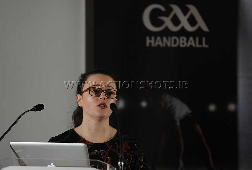 04/02/2018; GAA Handball Annual Congress 2018; Croke Park, Dublin;<br /> Regional Development Officer Deborah Foley<br /> Photo Credit: actionshots.ie/Tommy Grealy