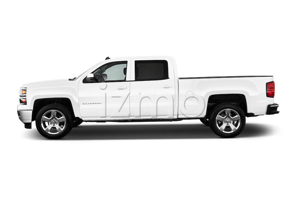 Driver side profile view of a 2014 Chevrolet Silverado 1500 LT 2WD Crew Cab