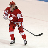 Mary Parker (BU - 15) - The Harvard University Crimson tied the Boston University Terriers 6-6 on Monday, February 7, 2017, in the Beanpot consolation game at Matthews Arena in Boston, Massachusetts.