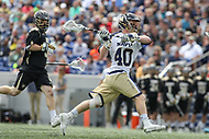 Annapolis, MD - April 15, 2017: Navy Midshipmen John Trainor (40) attempts a shot during game between Army vs Navy at  Navy-Marine Corps Memorial Stadium in Annapolis, MD.   (Photo by Elliott Brown/Media Images International)