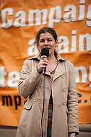 Claire James (Secretary of Campaign Against Climate Change). <br />