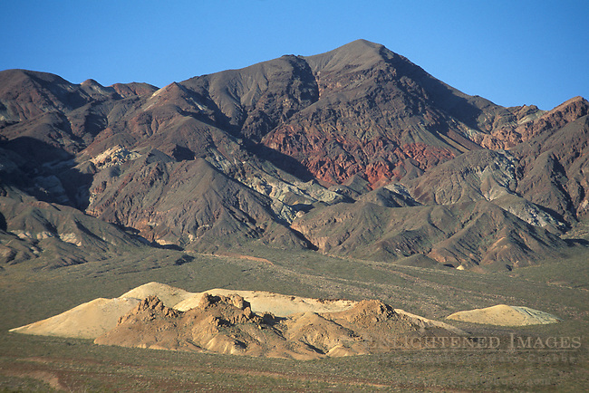 Eroded hills and alluvial fan below Mount Perry, Black Mountains, Amargosa Range, Death Valley National Park, California