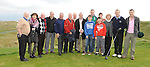 Captain Joseph O'Toole pictured with all his family at the Captain's Drive In at Laytown and Bettystown golf club. Photo: Colin Bell/pressphotos.ie
