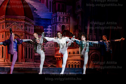 Members of the Moscow City Ballet Company perform their piece Romeo and Juliet in Budapest, Hungary on November 04, 2011. ATTILA VOLGYI