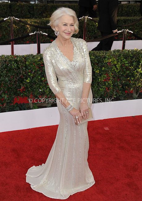 WWW.ACEPIXS.COM<br /> <br /> January 30 2016, LA<br /> <br /> Helen Mirren arriving at the 22nd Annual Screen Actors Guild Awards at the Shrine Auditorium on January 30, 2016 in Los Angeles, California<br /> <br /> By Line: Peter West/ACE Pictures<br /> <br /> <br /> ACE Pictures, Inc.<br /> tel: 646 769 0430<br /> Email: info@acepixs.com<br /> www.acepixs.com