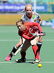 The Hague, Netherlands, June 13: During the field hockey placement match (Women - Place 7th/8th) between Korea and Germany on June 13, 2014 during the World Cup 2014 at Kyocera Stadium in The Hague, Netherlands. Final score 4-2 (2-0)  (Photo by Dirk Markgraf / www.265-images.com) *** Local caption ***