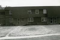 1990 July ..Assisted Housing..Oakleaf Forest..Oakleaf Forest B&W Study:.Head on shots of typical 1&2 story cottages all sides.07/90 HOUSING:Oaklf fr:1 :3 :R1...NEG#.NRHA#..
