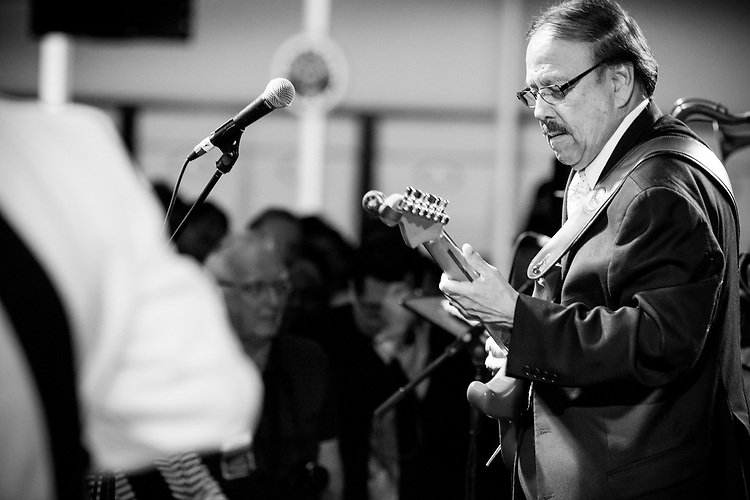 Rudy Palacios performs at the Ponderosa Stomp in New Orleans on October 3, 2015.