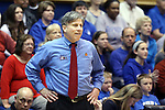 24 March 2014: DePaul head coach Doug Bruno. The Duke University Blue Devils played the DePaul University Blue Demons in an NCAA Division I Women's Basketball Tournament Second Round game at Cameron Indoor Stadium in Durham, North Carolina. DePaul won the game 74-65.