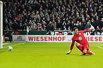 11.02.2018, Weserstadion, Bremen, GER, 1.FBL, SV Werder Bremen vs VfL Wolfsburg<br /> <br /> im Bild<br /> Koen Casteels (VfL Wolfsburg #01) beim 3:1, <br /> <br /> Foto &copy; nordphoto / Ewert