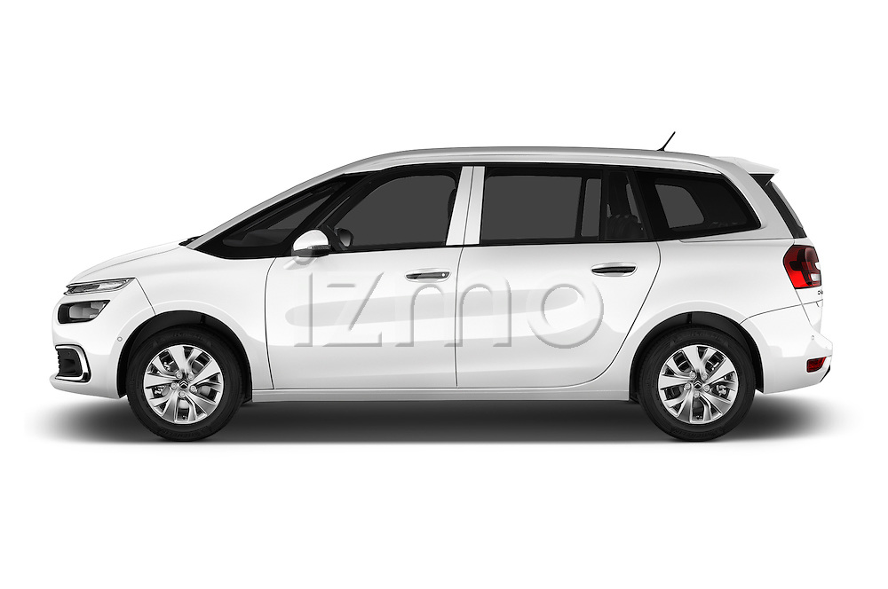 Car Driver side profile view of a 2016 Citroen Grand-C4-Picasso Shine 5 Door Mini MPV Side View