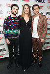 """Tom Sturridge, Carrie Cracknell and Jake Gyllenhaal attends the """"Sea Wall / A Life"""" opening night at The Public Theater on February 14, 2019, in New York City."""