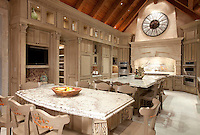 Custom Pheasant Kitchen backsplash shown in polished stone.<br /> -photo courtesy of 	Ladco Resort Design Group