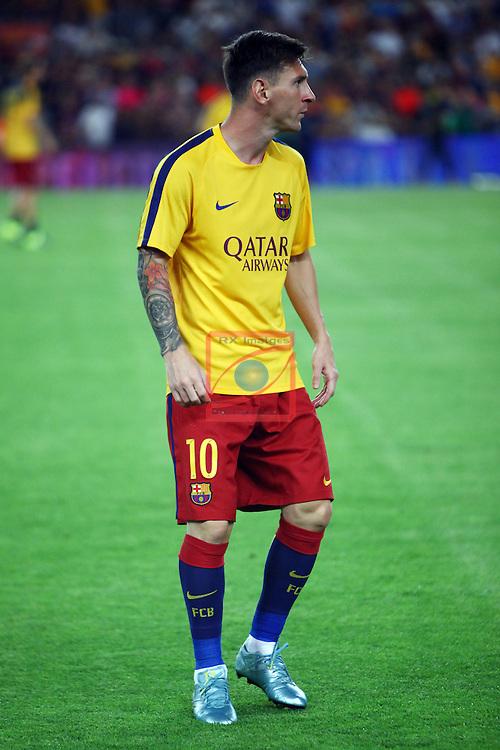 50e Trofeu JOAN GAMPER.<br /> FC Barcelona vs AS Roma: 3-0.<br /> Lionel Messi.