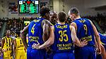Armani MOORE (#4 EWE Baskets Oldenburg) \Brad LOESING (#35 EWE Baskets Oldenburg) \Karsten TADDA (#9 EWE Baskets Oldenburg) \Rickey PAULDING (#23 EWE Baskets Oldenburg) \ beim Spiel, MHP RIESEN Ludwigsburg - EWE Baskets Oldenburg.<br /> <br /> Foto &copy; PIX-Sportfotos *** Foto ist honorarpflichtig! *** Auf Anfrage in hoeherer Qualitaet/Aufloesung. Belegexemplar erbeten. Veroeffentlichung ausschliesslich fuer journalistisch-publizistische Zwecke. For editorial use only.