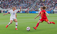 Los Angeles, CA - Sunday April 07, 2019: The women's national teams of the United States (USA) and Belgium (BEL) play in an international friendly match at Banc of California Stadium.