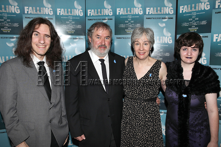 Playwright Deanna Jent and Family attending the Off-Broadway Opening Night Performance After Party for 'Falling' at Knickerbocker Bar & Grill on October 15, 2012 in New York City.