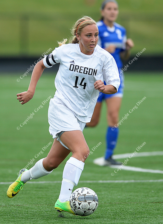Oregon's Kelsey Jahn brings the ball up field, as Oregon tops Green Bay Southwest 3-0 to win the WIAA Division 2 girls soccer state championship, on Saturday, June 20, 2015 at Uihlein Soccer Park in Milwaukee, Wisconsin