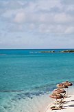 EXUMA, Bahamas. Private beach at the Fowl Cay Resort.