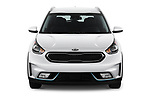 Car photography straight front view of a 2018 KIA Niro LX PHEV 5 Door Hatchback