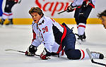 13 December 2008: Washington Capitals' left wing forward Alexander Semin from Russia warms up prior to facing the Montreal Canadiens at the Bell Centre in Montreal, Quebec, Canada. ***** Editorial Sales Only ***** Mandatory Photo Credit: Ed Wolfstein Photo