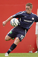 The New England Revolution's Richie Baker. The New England Revolution and D.C. United finished in a scoreless tie in MLS play at Gillette Stadium, Foxboro, MA on Saturday August 28, 2004.